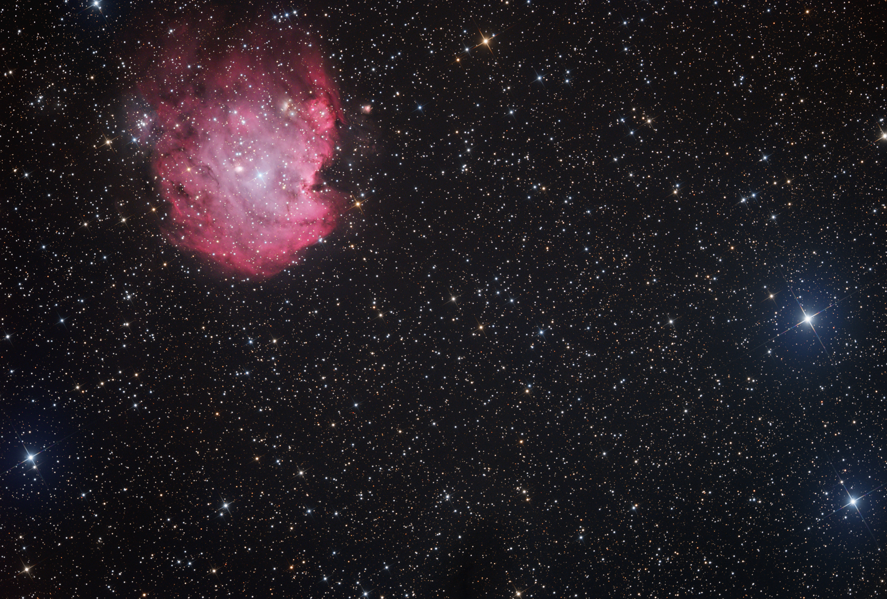 Sh2-252 Emission nebula in Orion