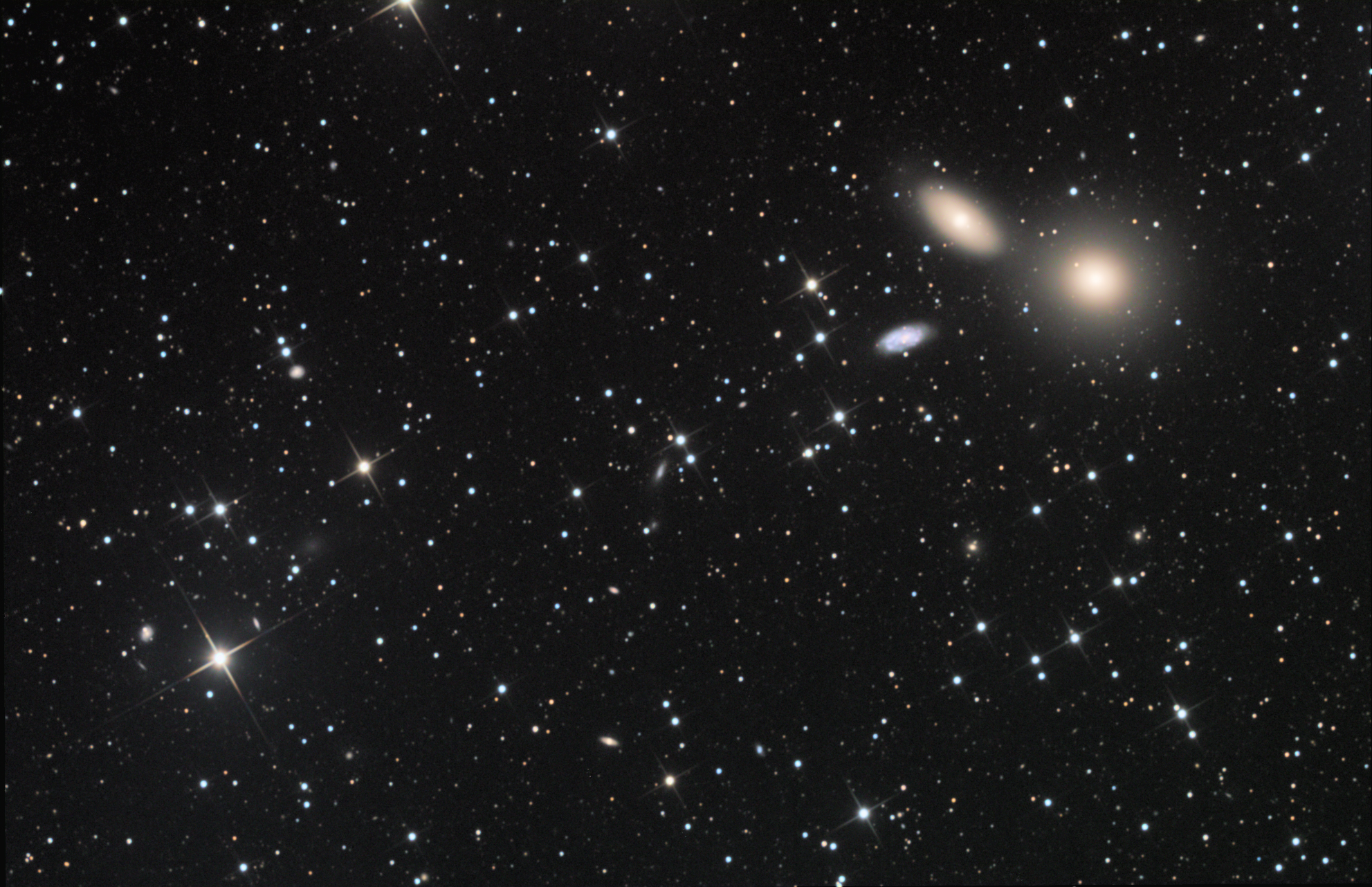 M105 Elliptical galaxy in Leo